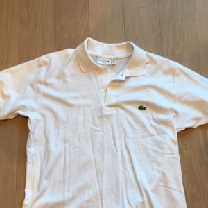 Men's NWT Lacoste Polo - White, Size 6 (Large).